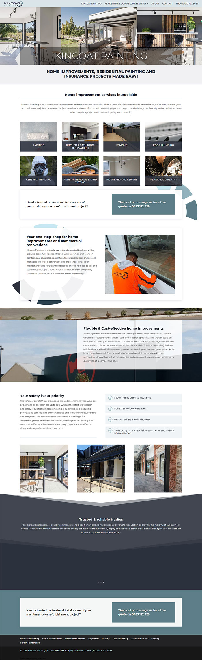 website design example painting business adelaide