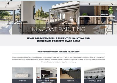 Website design for Kincoat Painting