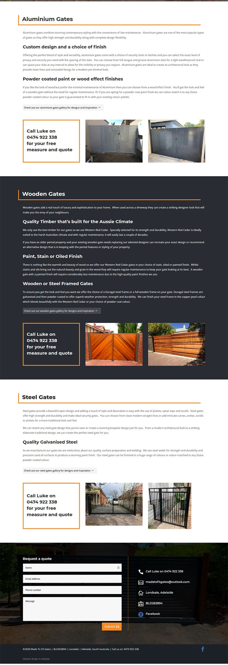 website design made to fit gates Lonsdale Adelaide