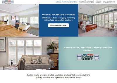 Shutters and blinds website example
