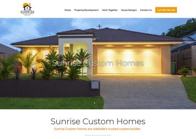 Example of Website for home builders in Adelaide