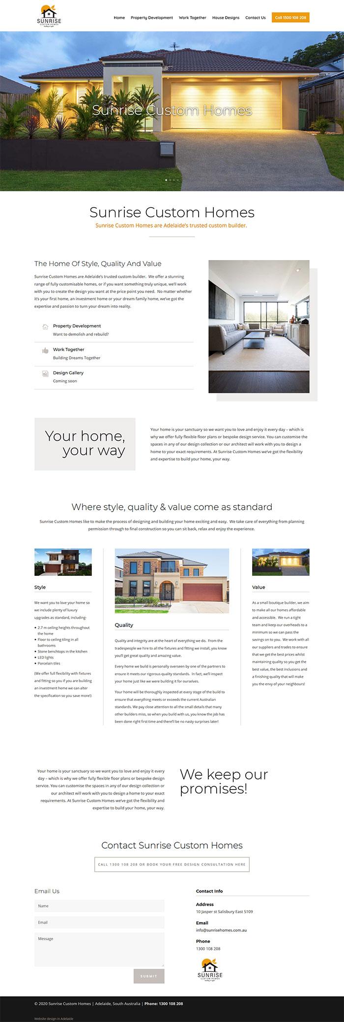 website for home builders adelaide