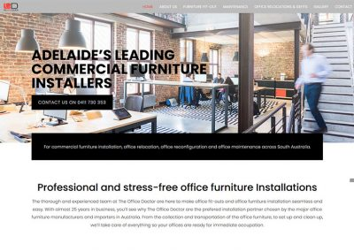 Website design for commercial furniture installers