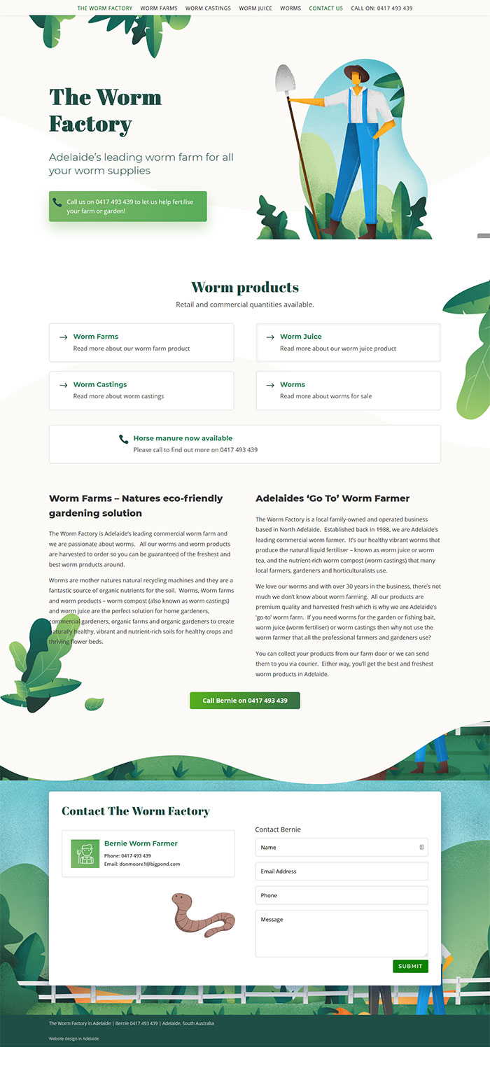 website package for farm products