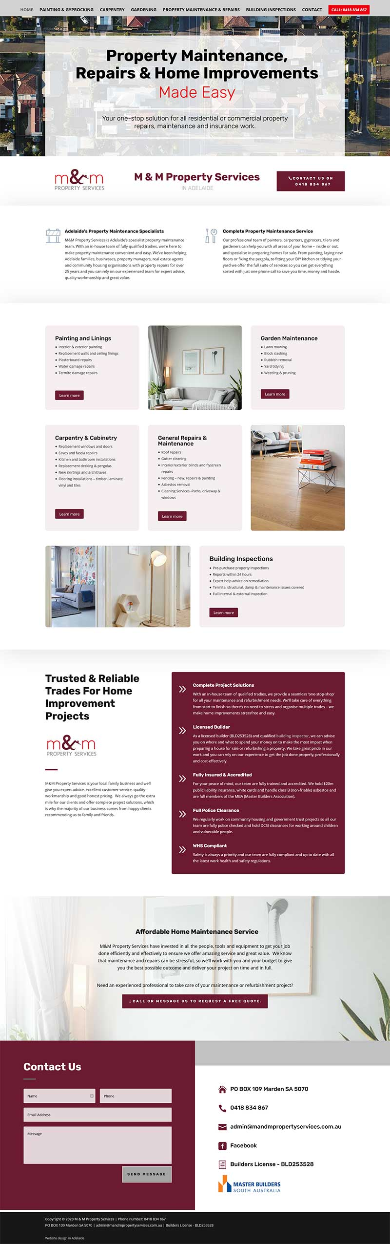 website design Divi WordPress Adelaide