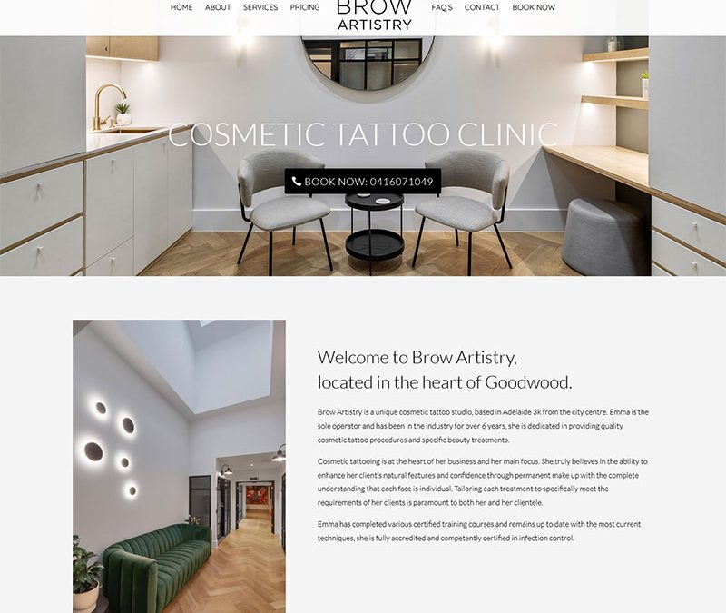 Website for Cosmetic Tattoo Clinic