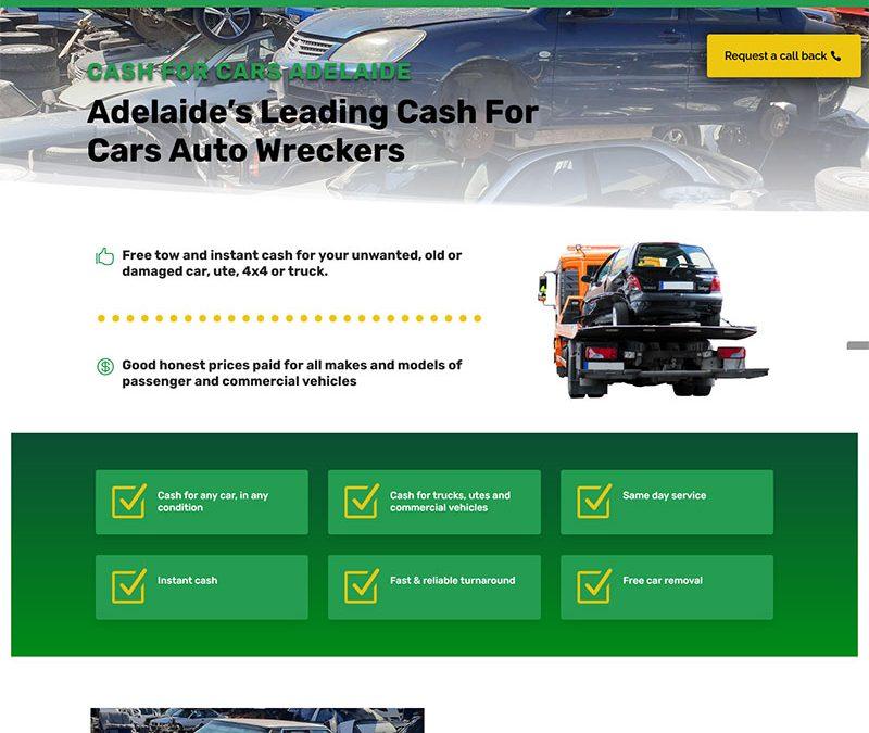Cash for Cars Adelaide – website design and copywriting