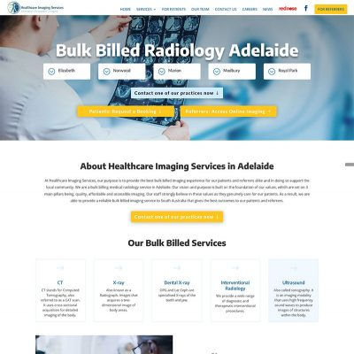 Website design project for Bulk Billed Radiology Adelaide