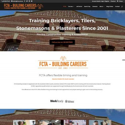 Website design for course bookings