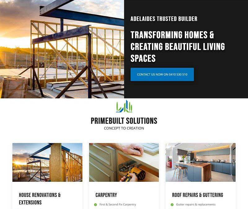 Website design for Home Renovations Adelaide