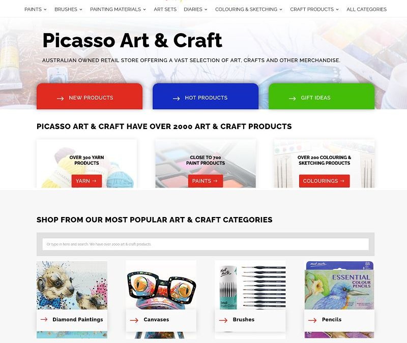 Large art and craft online shop