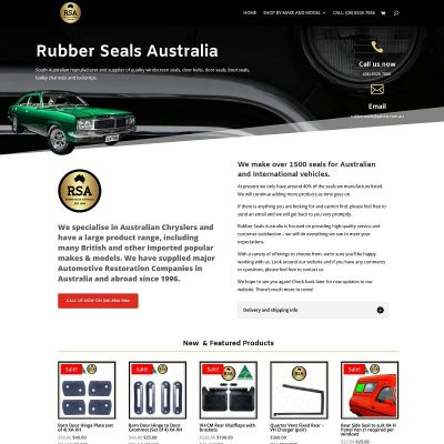 Large ecommerce website with over 1500 different car seals