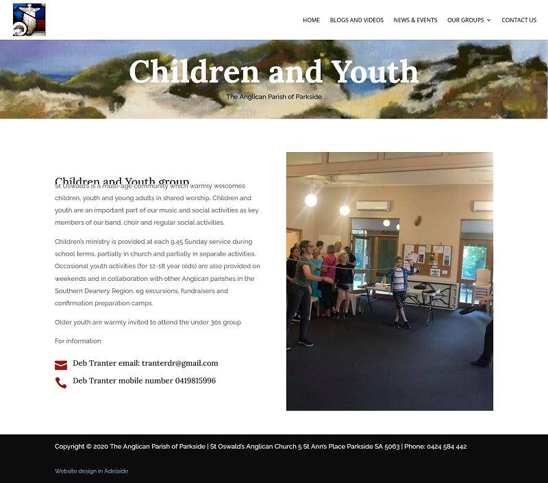 website design for church in adelaide