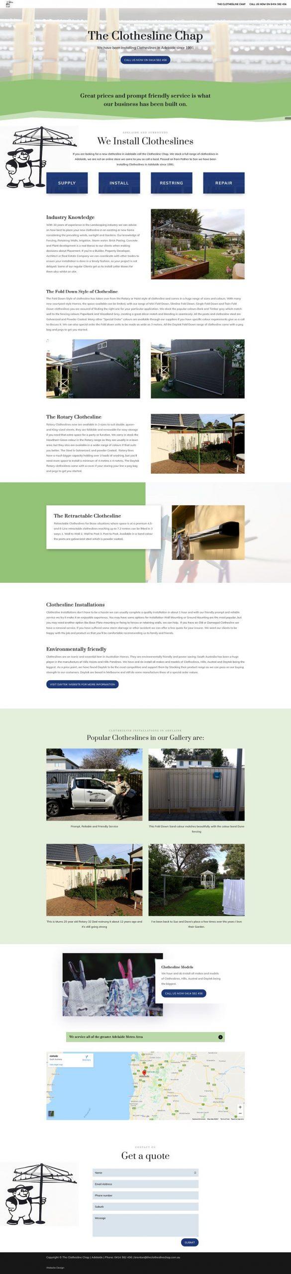 single page website design adelaide