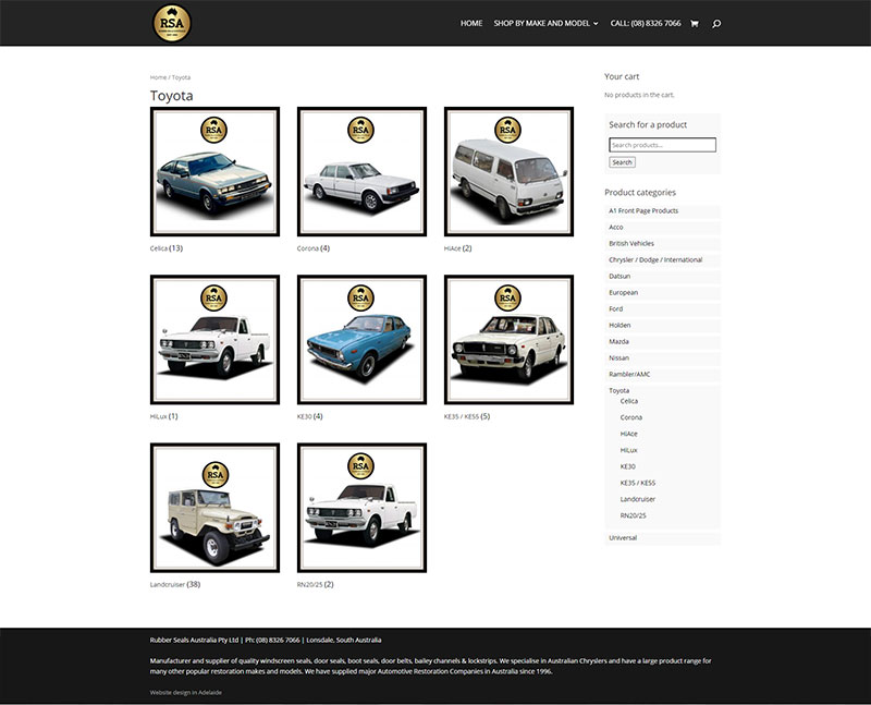 ecommerce booking website design adelaide