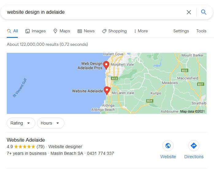 website design adelaide google my business