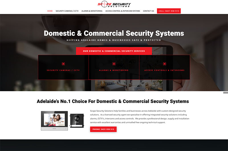 website design package adelaide security website