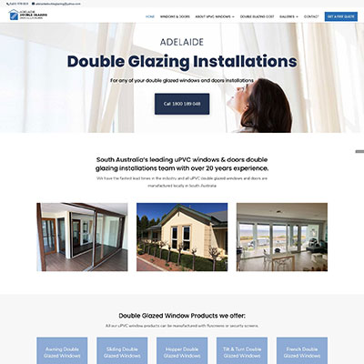 Web design in Adelaide for double glazing company