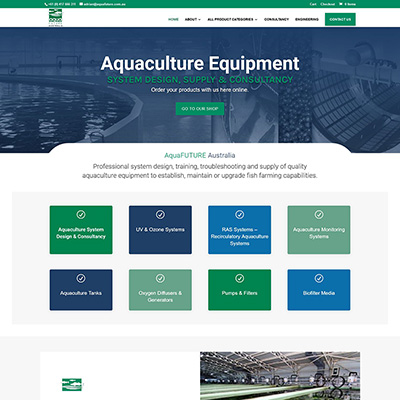 Ecommerce website design for aquaculture equipment