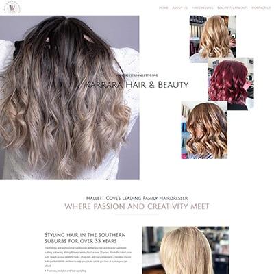 Hairdresser website design in Hallett Cove