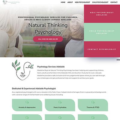 Website design for a psychologist in Adelaide