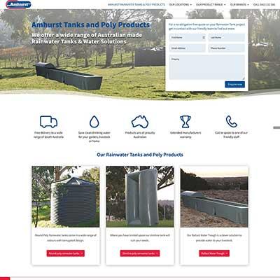 Website build for rainwater tanks business
