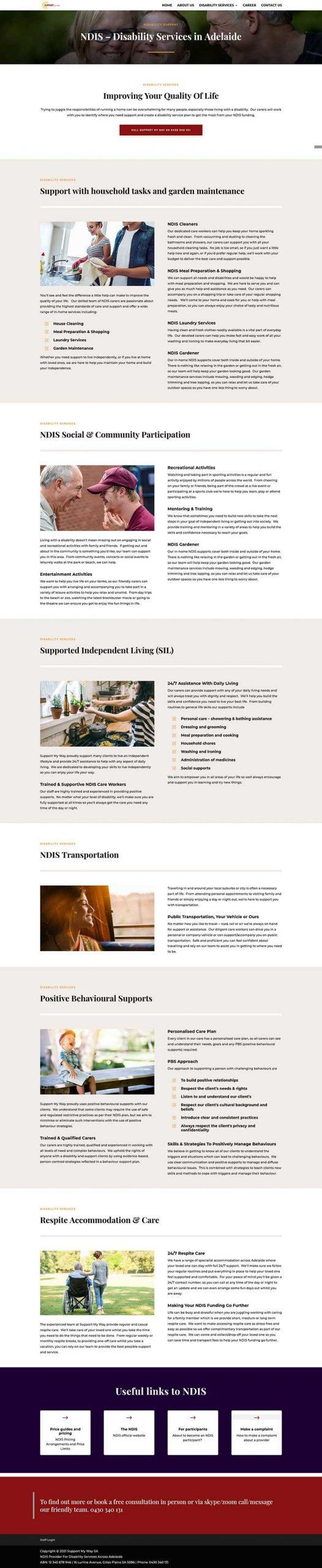 redesign of website adelaide