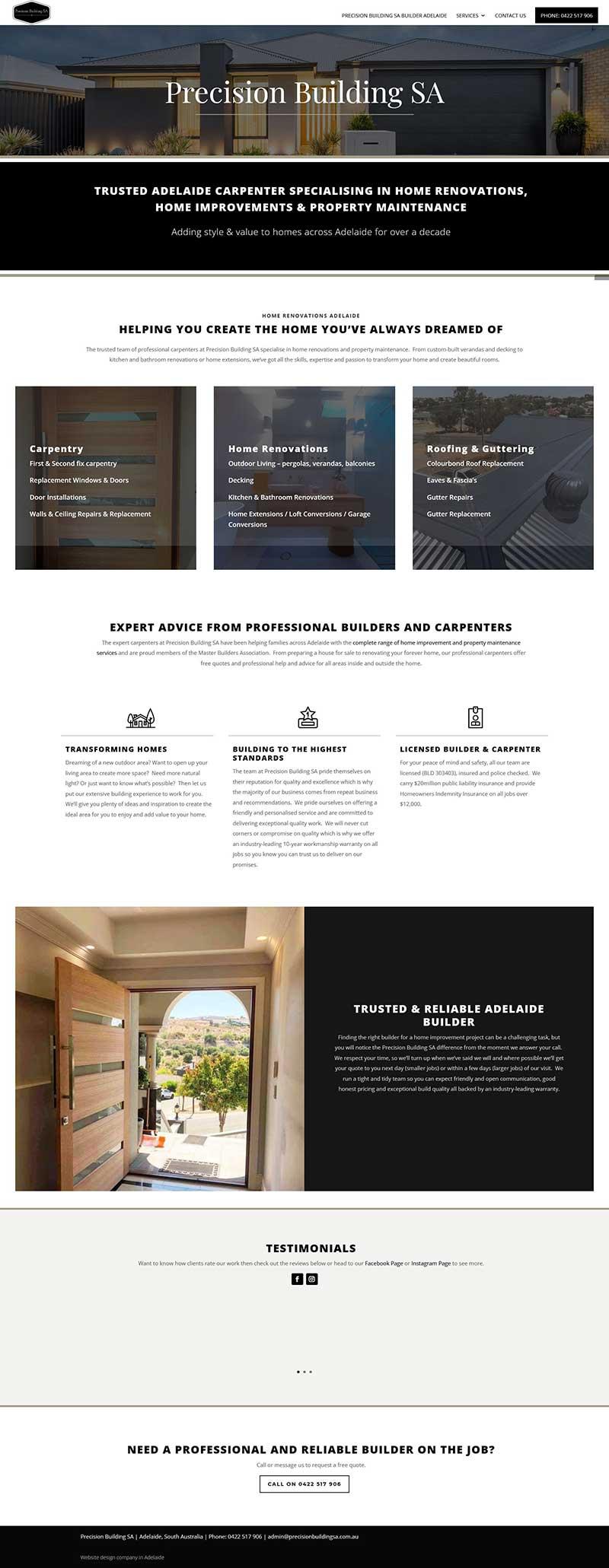 website design in adelaide house builder renovations