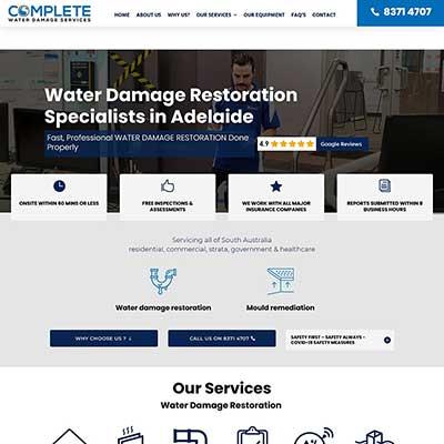 Website design for plumbing company in Adelaide