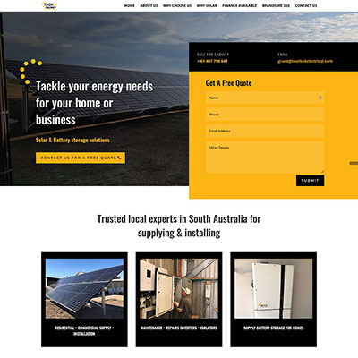 Website design for electrical business in Adelaide