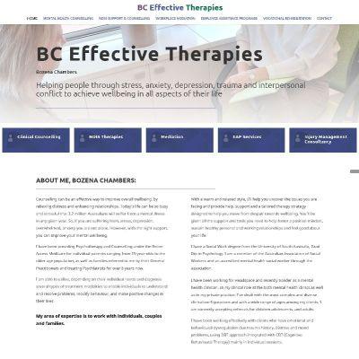 Website design for Mental Health Counsellor Adelaide