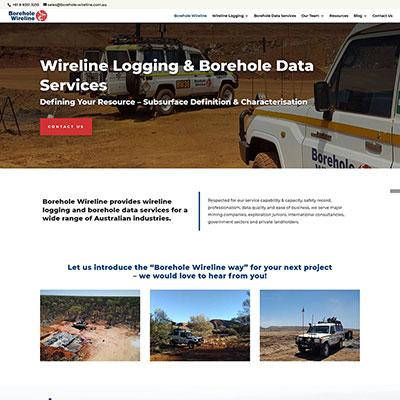 Website design for Borehole Wireline